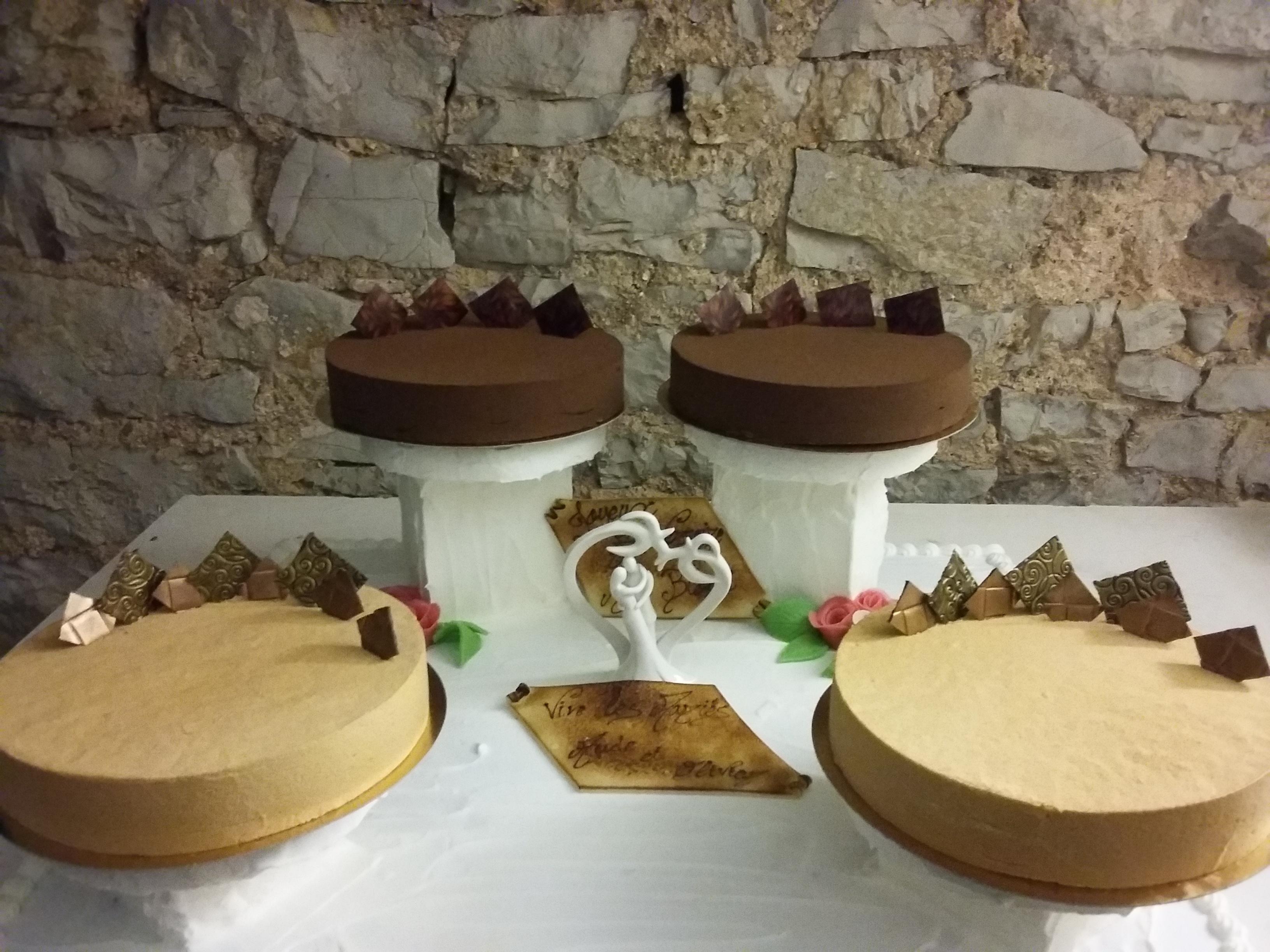 Entremets chocolat/cookies et Caramel beurre salé/pain d'epices
